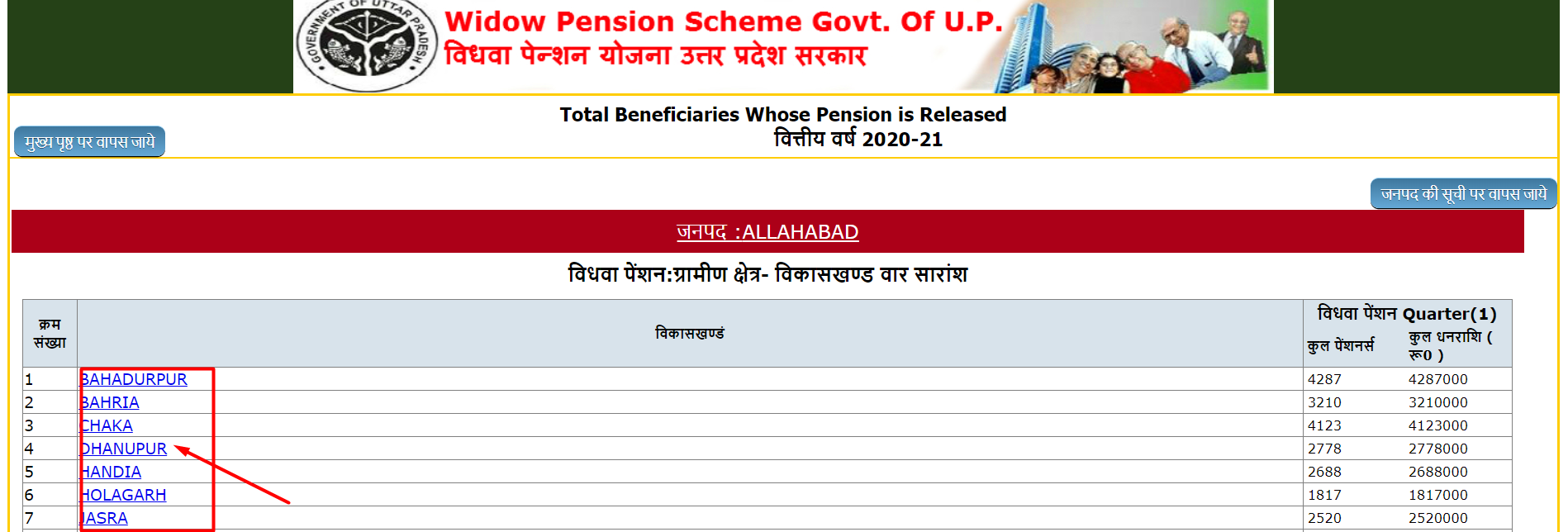 vidhwa pension